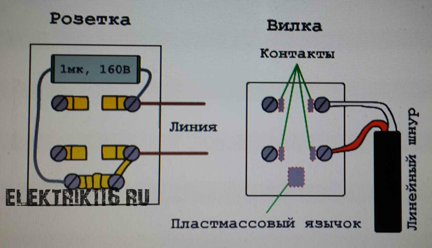 Схема телефонной розетки фото