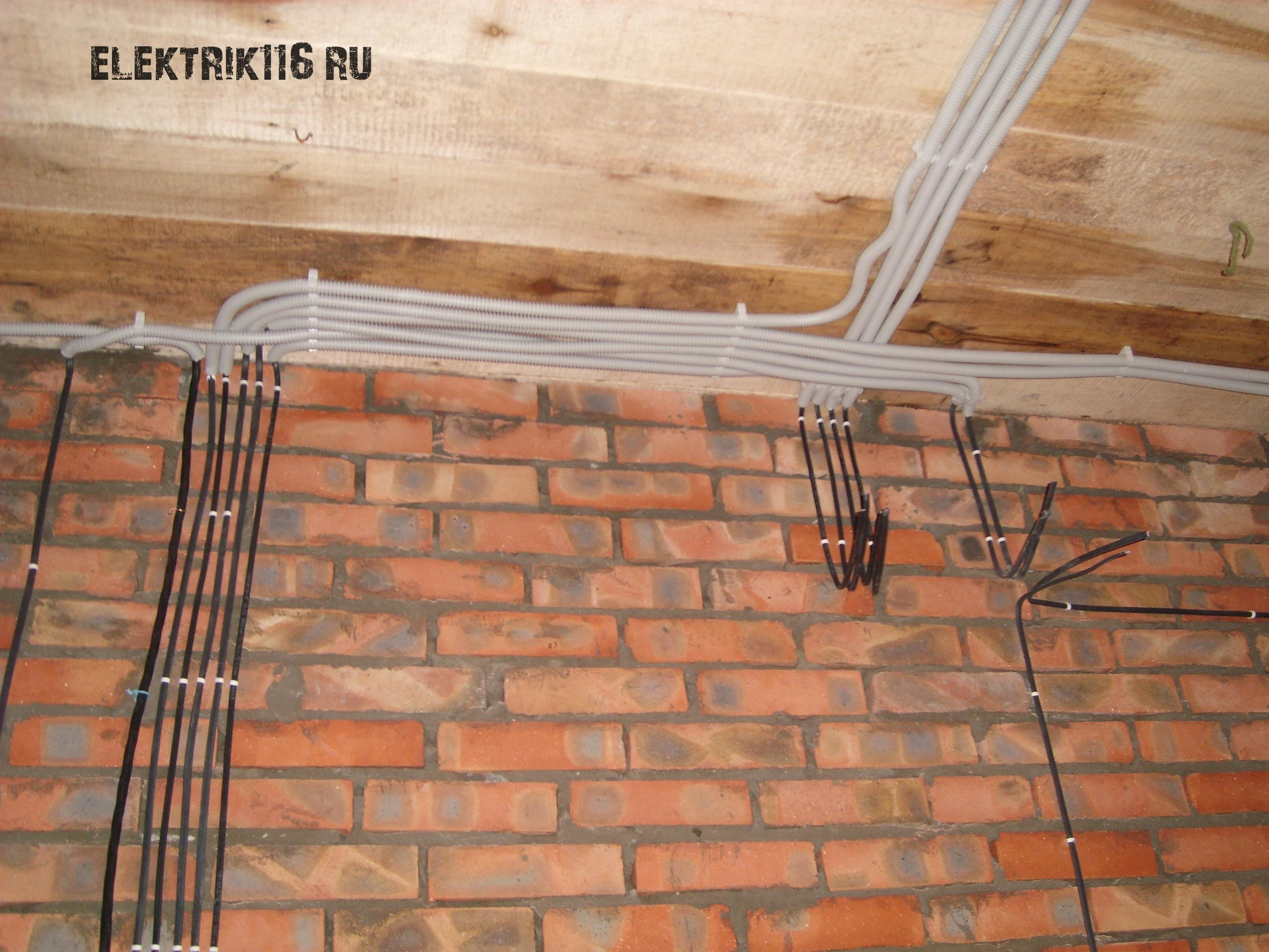 Монтаж электропроводки elektrik116.
